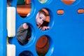 Enfant dans le terrain de jeux Photo libre de droits