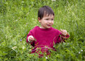 Enfant en nature Photo libre de droits