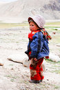 ENFANTS DU MONDE : Nomade de Changpa, Ladakh   Photos libres de droits