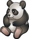 Enfermedad cómoda linda del vector de la panda Foto de archivo