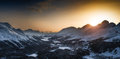 Engadin valley st moritz from muottas muragl Royalty Free Stock Photography