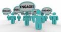 Engage Interact Involve Speech Bubble People