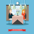 Engagement concept vector illustration in flat style