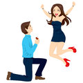 Engagement Proposal Excitement Royalty Free Stock Image