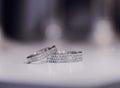 Engagement rings beautiful stylish elegant gold Stock Photo