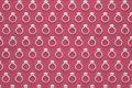 Engagement rings pattern in white color on red background 3D rendering