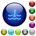 Engine coolant temperature indicator color glass buttons Royalty Free Stock Photo