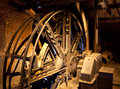 Engine for the elevator of a mining shaft antique mine bois du luc hainaut belgium Royalty Free Stock Photo