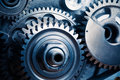 Engine gears wheels Royalty Free Stock Photo