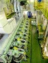 Engine inside a ship