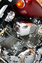 Engine of a motorcycle Stock Photos