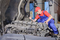 Engine repair hobby Royalty Free Stock Photo