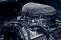 Engine of a roadster Shelby AC Cobra 427, 1966 Royalty Free Stock Photo