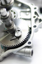Engine spare part gear for multipurpose Royalty Free Stock Image