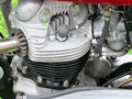 Engine of vintage british motorcycle Royalty Free Stock Photo