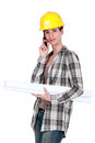 Engineer on a construction site Stock Image