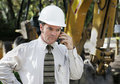 Engineer On Construction Site Stock Photography