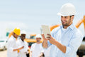 Engineer at a construction site Royalty Free Stock Photo