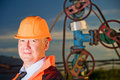 Engineer in an Oil field Royalty Free Stock Photo