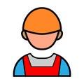 Engineer Persons Handshake Vector Icon