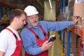 Engineer training employee Royalty Free Stock Photo