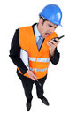 Engineer with two-way radio Stock Photography