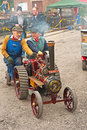 Engineer and wife at Steam Traction Rally Royalty Free Stock Photos