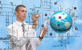 Engineering designing connection tecnology Royalty Free Stock Photo