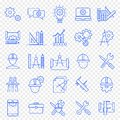 Engineering Icon set. 25 Vector Icons Pack