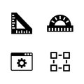 Engineering instruments. Simple Related Vector Icons