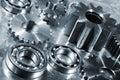 Engineering parts in titanium and steel