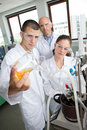 Engineering students working in lab Royalty Free Stock Photo