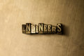 ENGINEERS - close-up of grungy vintage typeset word on metal backdrop