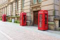 England birmingham red telephone boxes west midlands Stock Photography