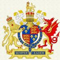 England Coat Of Arms With Painting Texture