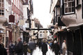 England crowd on old english streets of york town Royalty Free Stock Photography
