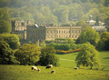 England derbyshire chatsworth house Royalty Free Stock Photo