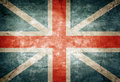 England flag old grunge great britain on vintage paper Stock Images