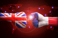 England and france against competitors of world business Royalty Free Stock Photo