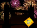England Happy New Year fireworks Stock Photo