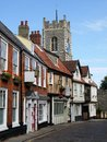 England: historic street in Norwich Royalty Free Stock Photos