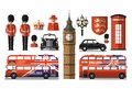 England, London, UK. Set icons