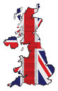 England map of with flag and big ben Stock Image