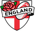 England Rugby Ball English Rose Royalty Free Stock Photo
