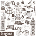 England set english vector design elements Royalty Free Stock Photography