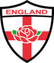 England Shield English Rose Royalty Free Stock Photography