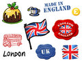 England symbols Stock Photos
