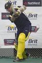 2012 England v Australia 4th one day international net sessions Royalty Free Stock Photo