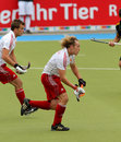 England V Belgium.Hockey European Cup Germany 2011 Stock Image