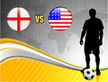England versus usa on abstract world map background original illustration Royalty Free Stock Photos